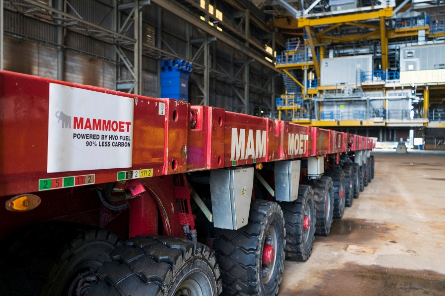 Mammoet has executed its first operation using low-carbon HVO fuel