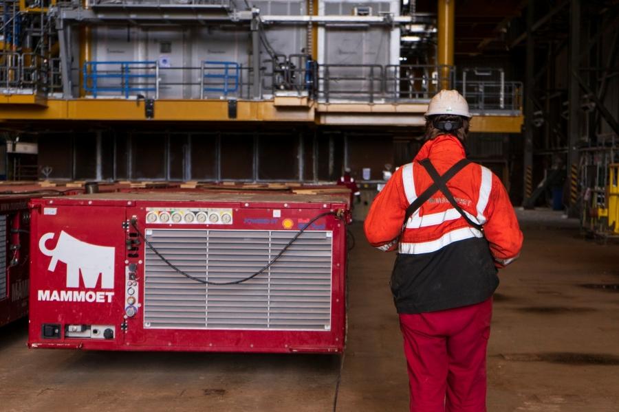 low-carbon HVO in Mammoet's SPMT powerpacks